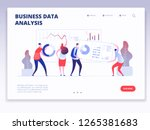 landing page. people with... | Shutterstock .eps vector #1265381683