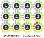 set of pie chart infographic... | Shutterstock .eps vector #1265385700