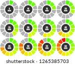 set of pie chart infographic... | Shutterstock .eps vector #1265385703