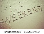 weekend on the on beach | Shutterstock . vector #126538910