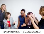female conference members ...   Shutterstock . vector #1265390260