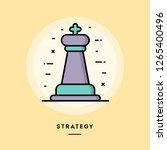 startegy  chess figure  flat... | Shutterstock .eps vector #1265400496