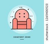 comfort zone  armchair  flat... | Shutterstock .eps vector #1265400523