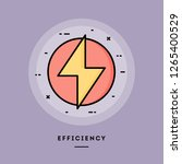 efficiency  flat design thin... | Shutterstock .eps vector #1265400529