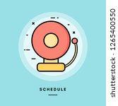 schedule  school bell  flat... | Shutterstock .eps vector #1265400550