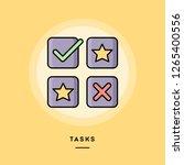 tasks  flat design thin line...   Shutterstock .eps vector #1265400556