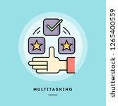multitasking  flat design thin...   Shutterstock .eps vector #1265400559