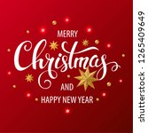 merry christmas and happy new... | Shutterstock .eps vector #1265409649