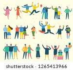 people  friends celebrating new ... | Shutterstock .eps vector #1265413966