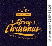 merry christmas. typography.... | Shutterstock .eps vector #1265415109