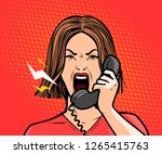 angry girl or young woman... | Shutterstock .eps vector #1265415763