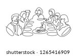 birthday party continuous one... | Shutterstock .eps vector #1265416909