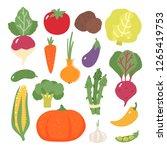 set of vegetables. cabbage....   Shutterstock .eps vector #1265419753