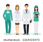 group of four medical people... | Shutterstock . vector #1265423473