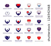 hearts   medical icons set  ... | Shutterstock .eps vector #126542468