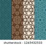 set of geometric seamless... | Shutterstock .eps vector #1265432533