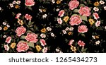 seamless floral pattern in... | Shutterstock .eps vector #1265434273