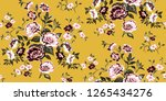 seamless floral pattern in... | Shutterstock .eps vector #1265434276
