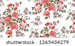 seamless floral pattern in... | Shutterstock .eps vector #1265434279