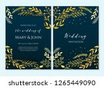 wedding invitation  thank you... | Shutterstock .eps vector #1265449090