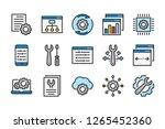 development and maintenance... | Shutterstock .eps vector #1265452360