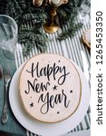 christmas or new year party... | Shutterstock . vector #1265453350