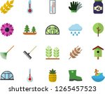 color flat icon set temperature ...