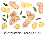 Fresh Ginger Root And Slice...