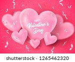valentines day banner with... | Shutterstock .eps vector #1265462320