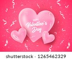 valentines day banner with... | Shutterstock .eps vector #1265462329