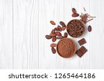 top view on tasty chocolate... | Shutterstock . vector #1265464186