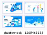 set of creative website... | Shutterstock .eps vector #1265469133
