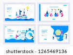 set of creative website... | Shutterstock .eps vector #1265469136