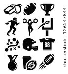 american,american football,ball,black,cheerleader,collection,cup,fast,football,football goal,football helmet,game,goal,icons,illustration