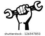 vector black illustration of... | Shutterstock .eps vector #126547853