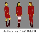 three christmas red costume... | Shutterstock .eps vector #1265481430