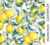 watercolor vintage seamless... | Shutterstock . vector #1265484139