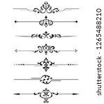 vintage set of decorative... | Shutterstock . vector #1265488210