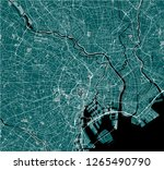 vector map of the city of tokyo ... | Shutterstock .eps vector #1265490790