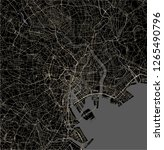 vector map of the city of tokyo ... | Shutterstock .eps vector #1265490796