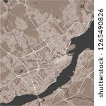 vector map of the city of...   Shutterstock .eps vector #1265490826