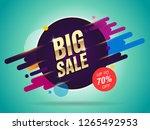 big sale abstract banner...   Shutterstock .eps vector #1265492953