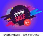 super sale abstract banner...   Shutterstock .eps vector #1265492959