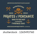 retro styled modern fonts.... | Shutterstock .eps vector #1265493760