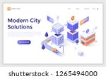 landing page with residential... | Shutterstock .eps vector #1265494000