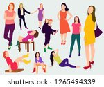 big colorful isolated people... | Shutterstock .eps vector #1265494339