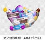 assorted chocolate candies in... | Shutterstock .eps vector #1265497486