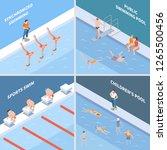 public pool synchronized... | Shutterstock .eps vector #1265500456