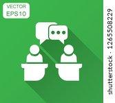 politic debate icon in flat... | Shutterstock .eps vector #1265508229