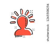 mind people icon in comic style.... | Shutterstock .eps vector #1265508256